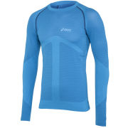 Asics Men's Seamless Long Sleeve Running Top - Atlantic Blue