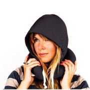 Hoodie Travel Pillow - Black