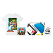 Nintendo 3DS XL Blue/Black Sonic Boom Pack +  T-Shirt (Medium)