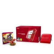 Nintendo 2DS Transparent Red Pokémon Omega Ruby Steelbook + Figurine Pack