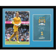 Manchester City Hart 14/15 - 16 x 12 Framed Photgraphic