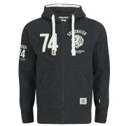 Crosshatch Men's Roars Zip Hoody - Black Marl