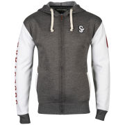 Soul Star Men's Athletic Zip Through Sweat - Charcoal