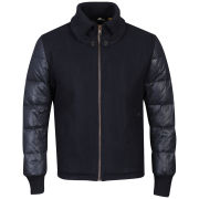 Antony Morato Men's Panno Quilted Detail Coat - Night Blue