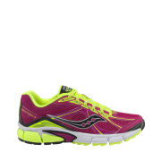 Saucony Women's Ignition 4 Running Shoe - Fuschia/Citron