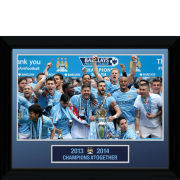 Manchester City Premier League Winners 13/14 16x12 Framed Photographic 30 x 40cm
