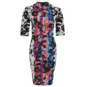Damned Delux Women's Aniston Funnel Neck Bodycon Dress - Multi