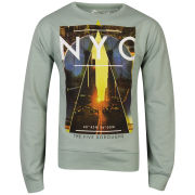 Cinch Men's Gotham Photo Print Crew Neck Sweatshirt - Aqua Marl
