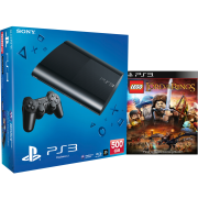 PS3: New Sony PlayStation 3 Slim Console (500 GB) - Black - Includes : Lord of the Rings