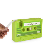 J-Me Cassette Shaped Tape Dispenser - Green