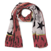 Codello Star Print Scarf - Orange