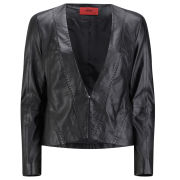 HUGO Women's Leike Leather Jacket - Black