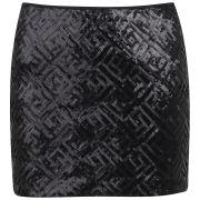 Vero Moda Women's Maise Sequin Mini Skirt - Black