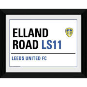 "Leeds United Street Sign - 16"""" x 12"""" Framed Photographic"