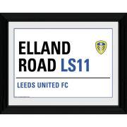 "Leeds United Street Sign - 16"""" x 12"""" Framed Photographic"