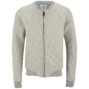 Scotch & Soda Men's Home Alone Quilted Sweat Bomber Jacket - Grey Melange