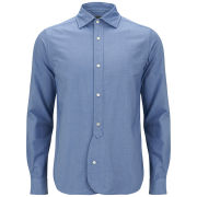 Nigel Cabourn Men's BD Heavy Oxford Cotton Shirt - Sky Blue