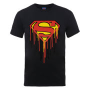 DC Comics Men's T-Shirt - Superman Drip Logo - Black