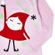 Text Santa Girls' Holly Glow In The Dark T-Shirt - Pink