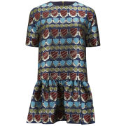 House of Holland Women's Jack Metallic Drop Waist Jacquard Mini Dress - Top Nosh