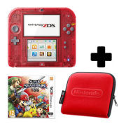 Nintendo 2DS Transparent Red Super Smash Bros. For Nintendo 3DS Pack
