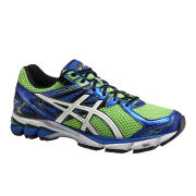 Asics Men's GT-1000 3 Structured Cushioning Running Shoes - Neon Green/White/Blue