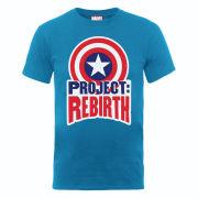 Marvel Avengers Assemble Captain America Project Rebirth Men's T-Shirt - Royal Blue