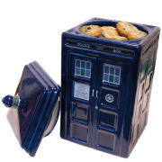 Dr Who Tardis Ceramic Cookie Jar