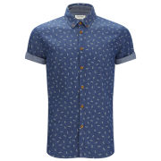 Jack & Jones Men's Duffle Shirt - Dress Blue