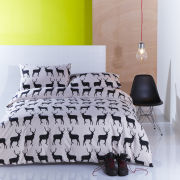 Anorak Kissing Stags Duvet Cover - Black