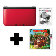 Nintendo 3DS XL Red/Black Donkey Kong Country Returns Pack