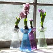 Nkuku Hyacinth Bulb Vase - Purple - 16 x 9cm