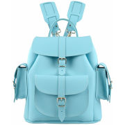 Grafea Sky Leather Rucksack - Sky Blue