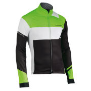 Northwave Men's Extreme Graphic Total Protection Jacket - Black/Fluorescent Green