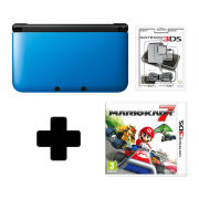 Nintendo 3DS XL Black/Blue Mario Kart 7 Pack