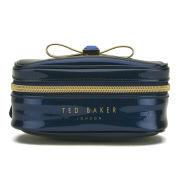 Ted Baker Women's Talen Bow Metalic Jewellery Case - Dark Blue