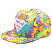 DC Comics Superman Snapback Psychedelic Kapow Sublimation Baseball Cap