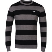 Atticus Men's Blitz Crew Neck Knit - Black/Grey Marl