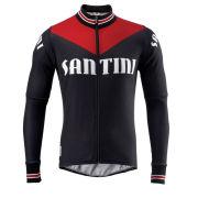 Santini Tech Wool Heritage Long Sleeve Jersey - Black