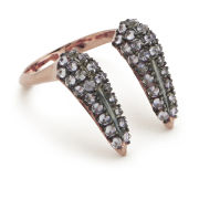 Katie Rowland Women's Stone Studded Fang Ring - 18 Carat Rose Gold
