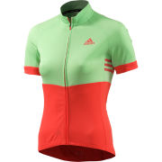 adidas Women's Response Team Short Sleeve Jersey - Green/Red/Grey