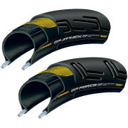 Continental Grand Prix Attack II and Force II Set Clincher Road Tyre - Black