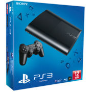 PS3: New Sony PlayStation 3 Slim Console (12 GB) - Black - REFURBISHED