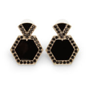 Kardashian Kollection KK Deco Drop Earrings - Black