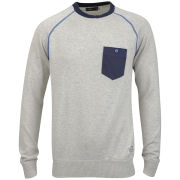 Jack & Jones Men's Long Sleeve Bros Knit - White Melange