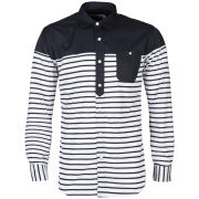 Publish Men's Twill Striped Lennow Shirt - Navy