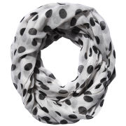 Codello Women's Polka Dot Loop Scarf - Black