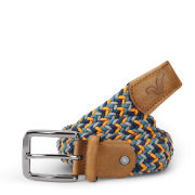 Voi Men's Donald Nylon Weave Belt - Navy/Orange