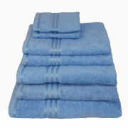 Restmor 100% Egyptian Cotton 7 Piece Supreme Towel Bale Set - Cobalt Blue