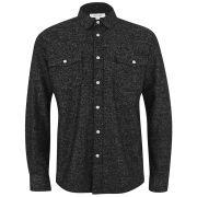 Soulland Men's Western Shirt - Black Slubs